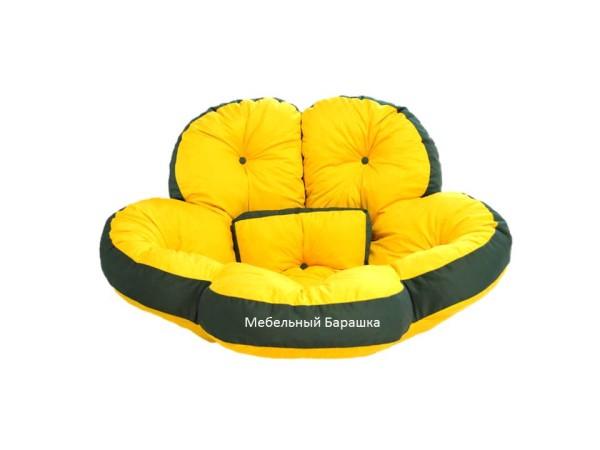 Дизайнерское бескаркасное мягкое кресло цветок трансформер